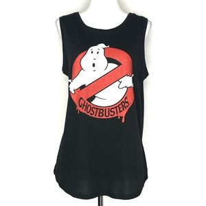 Ghostbusters Black Muscle Tank Top A020476